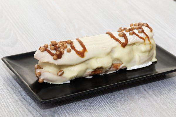 eclair enrobage chocolat blanc